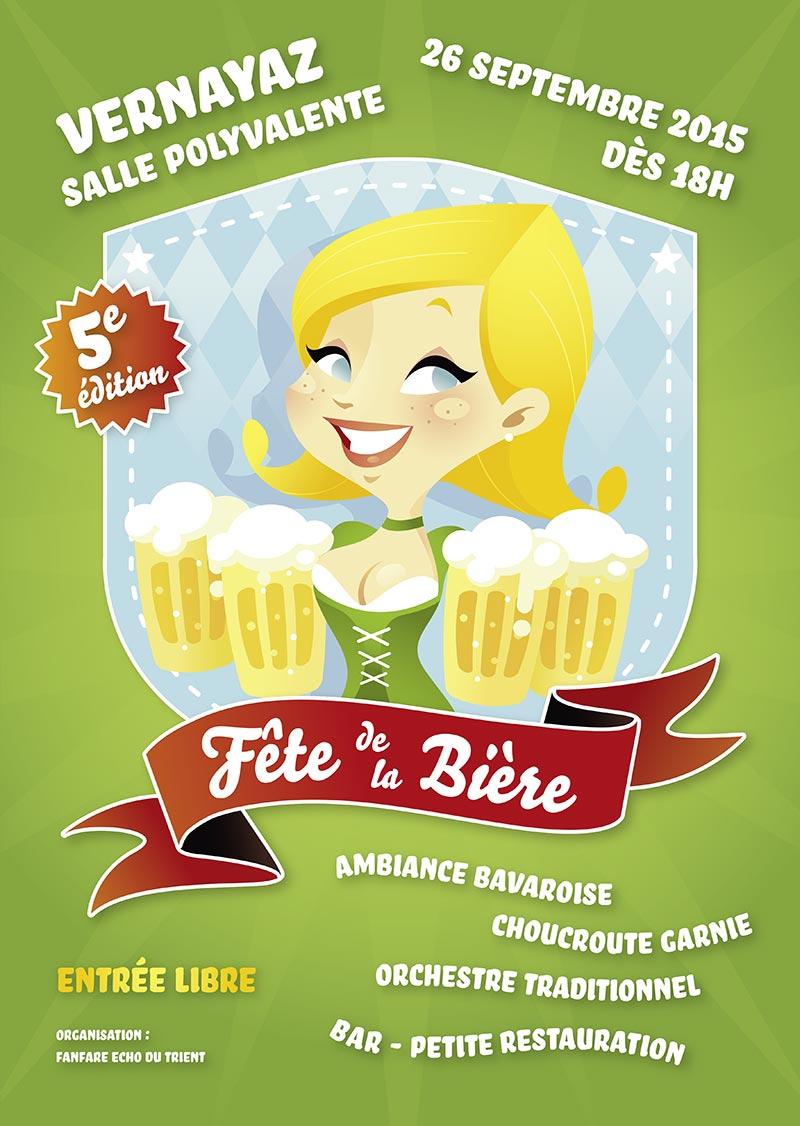 Affiche Fête de la Bière Vernayaz 2015